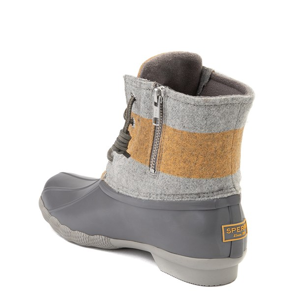 alternate view Womens Sperry Top-Sider Saltwater Varsity Duck Boot - Gray / YellowALT2