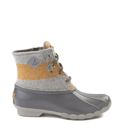 Main view of Womens Sperry Top-Sider Saltwater Varsity Duck Boot - Gray / Yellow