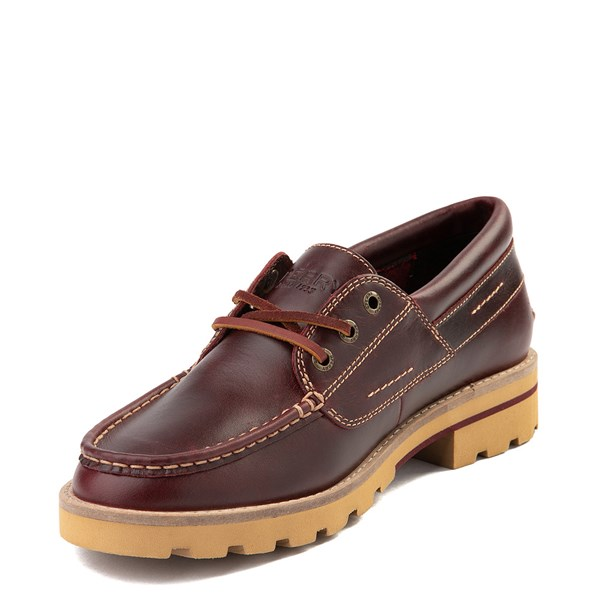 alternate view Womens Sperry Top-Sider Authentic Original Lug Boat Shoe - BurgundyALT3