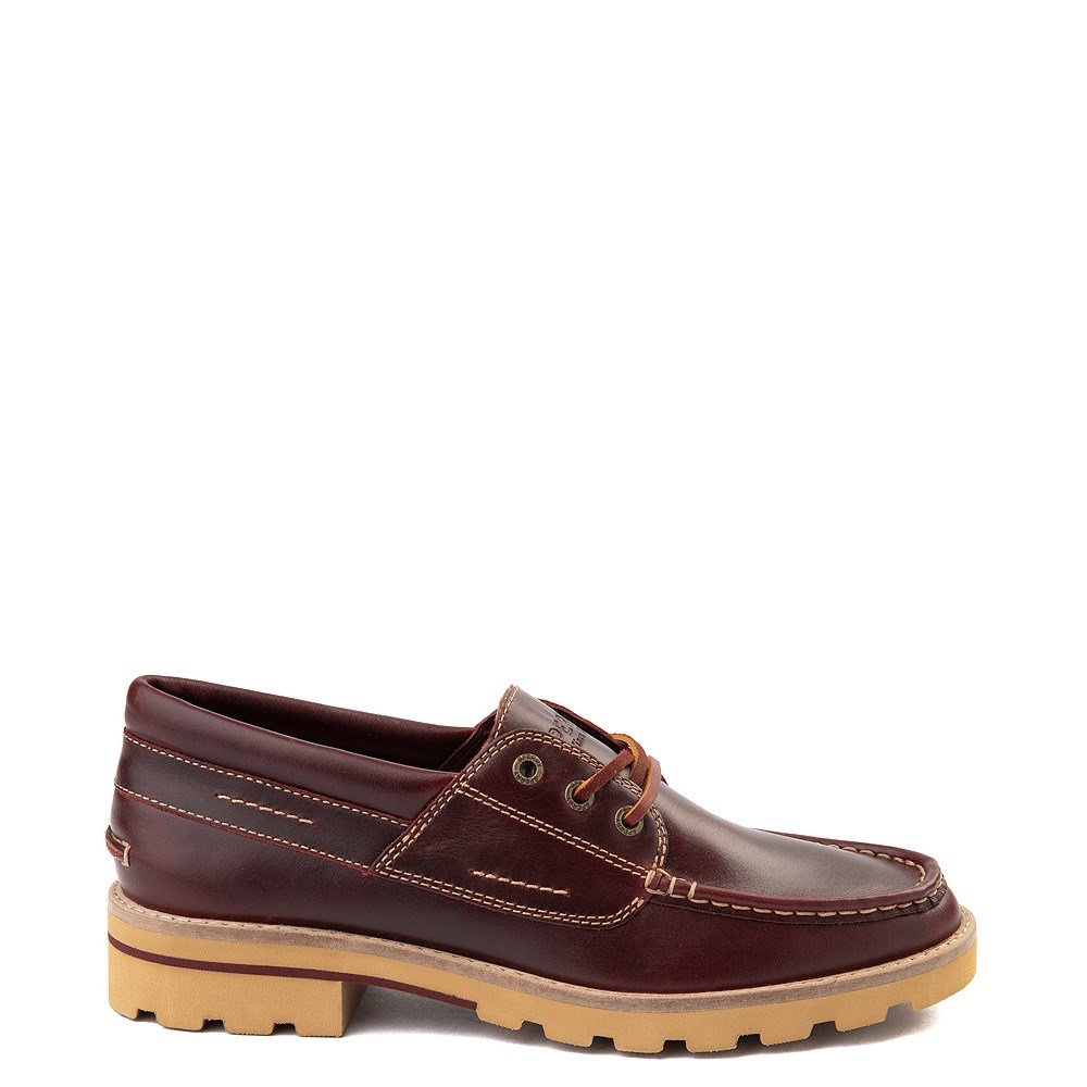 Womens Sperry Top-Sider Authentic Original Lug Boat Shoe - Burgundy