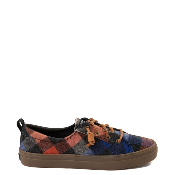 Default view of Womens Sperry Top-Sider Crest Vibe Plaid Casual Shoe - Black / Red / Blue