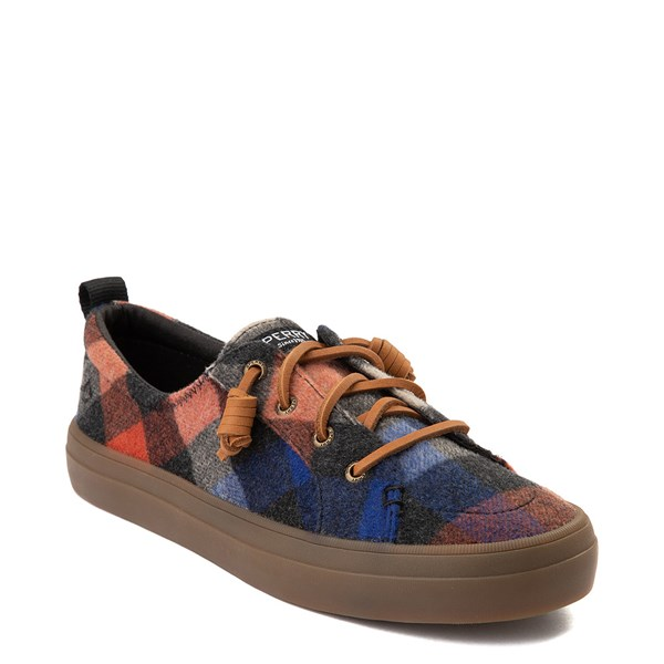 Alternate view of Womens Sperry Top-Sider Crest Vibe Plaid Casual Shoe - Black / Red / Blue