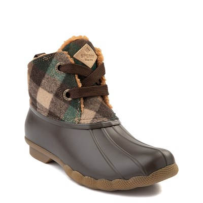 Alternate view of Womens Sperry Top-Sider Saltwater 2-Eye Boot - Brown Plaid