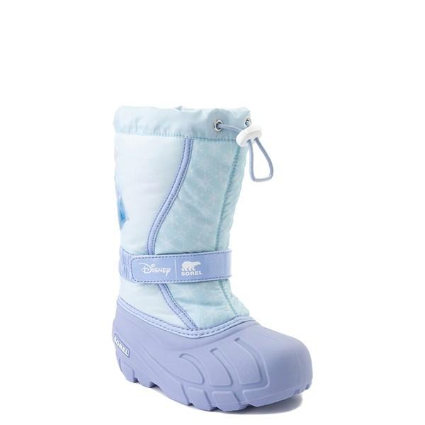 alternate view Disney x Sorel Frozen 2 Flurry™ Elsa Boot - Toddler / Little Kid - Light BlueALT1