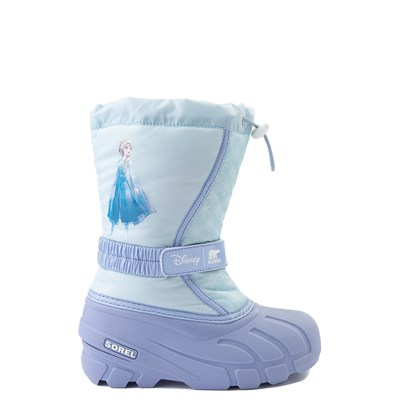 Main view of Disney x Sorel Frozen 2 Flurry™ Elsa Boot - Toddler / Little Kid - Light Blue