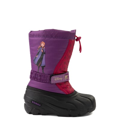 Main view of Disney x Sorel Frozen 2 Flurry™ Anna Boot - Toddler / Little Kid - Purple / Red
