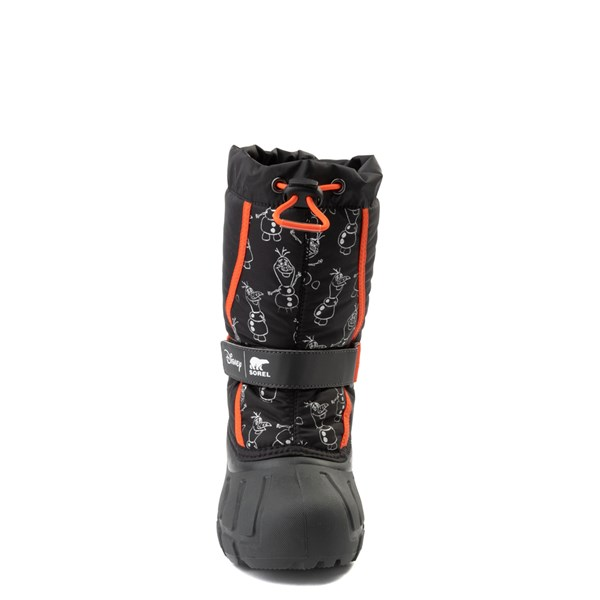 alternate view Disney x Sorel Frozen 2 Flurry™ Olaf Boot - Toddler / Little Kid - Black / RedALT4