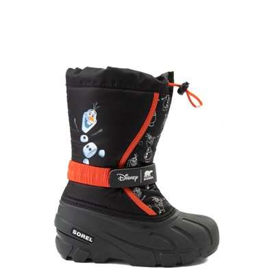 Main view of Disney x Sorel Frozen 2 Flurry™ Olaf Boot - Toddler / Little Kid - Black / Red