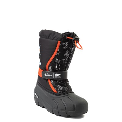 Alternate view of Disney x Sorel Frozen 2 Flurry™ Olaf Boot - Toddler / Little Kid - Black / Red
