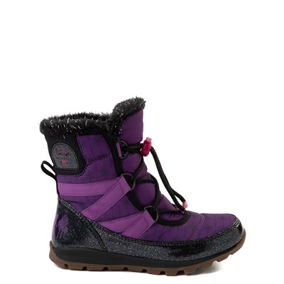 Main view of Disney x Sorel Frozen 2 Whitney™ Anna Boot - Toddler / Little Kid - Purple / Black