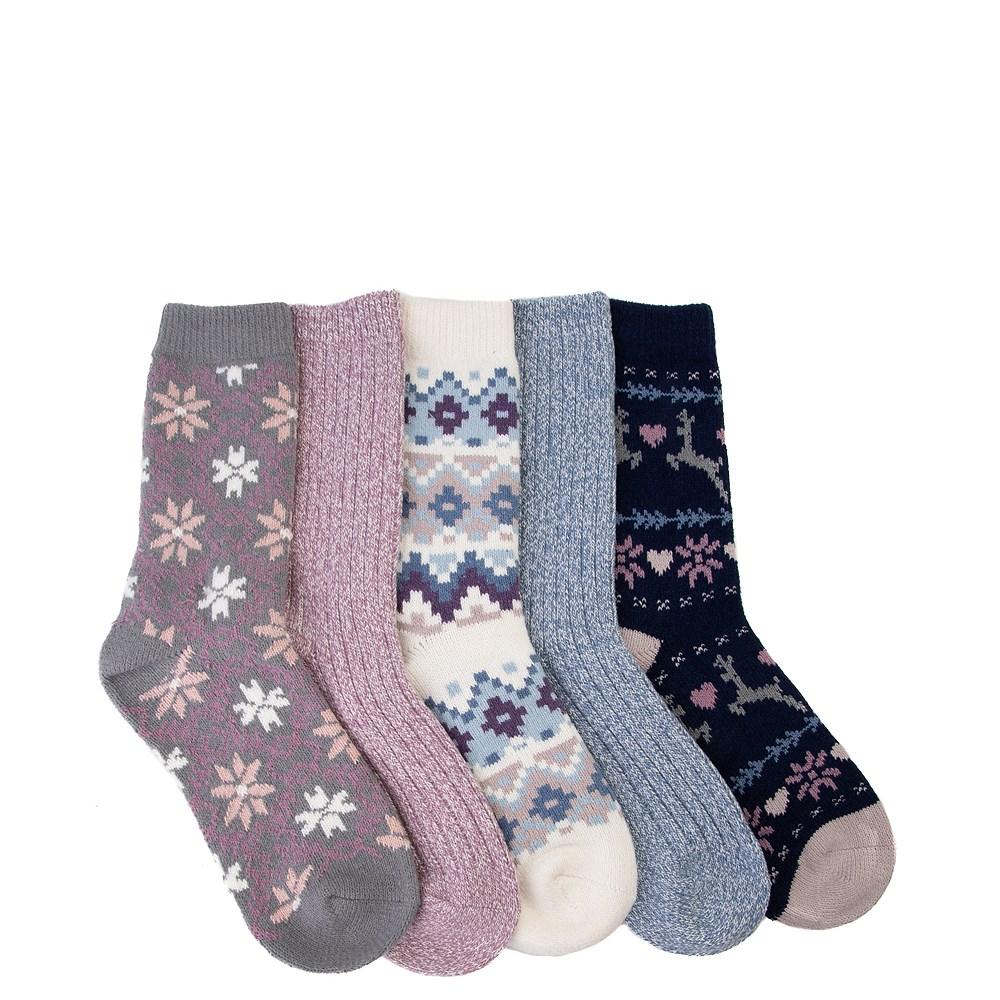Winter Supersoft Crew Socks 5 Pack - Girls Big Kid