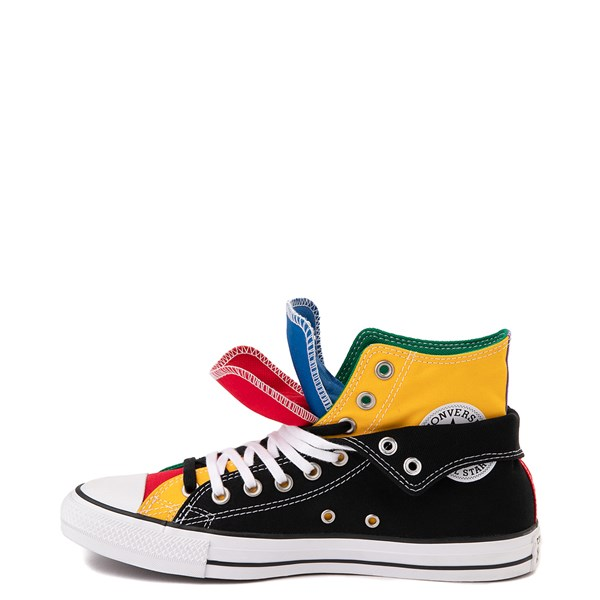 alternate view Converse Chuck Taylor All Star Hi Double Upper Sneaker - Black / MultiALT8