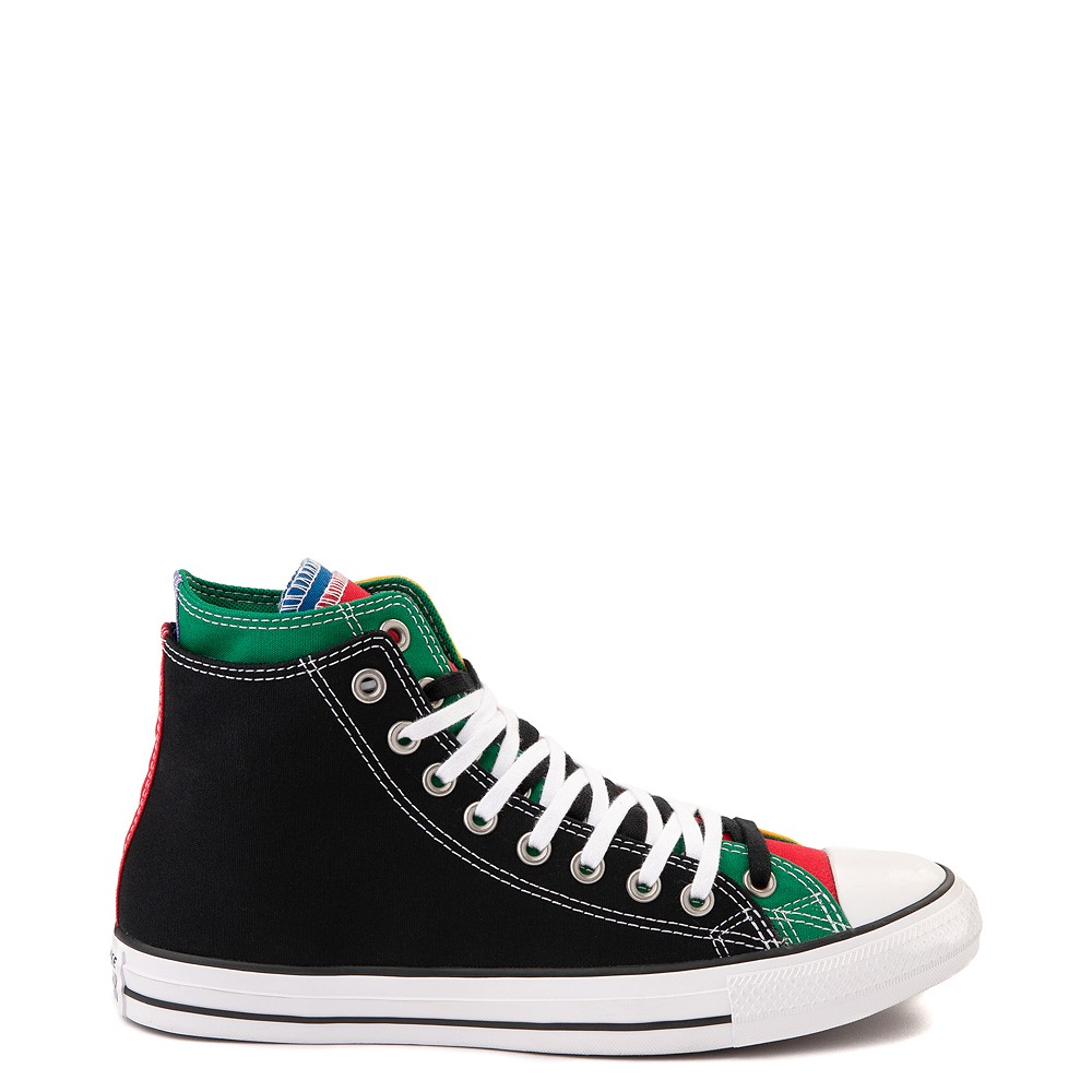 Converse Chuck Taylor All Star Hi Double Upper Sneaker - Black / Multi