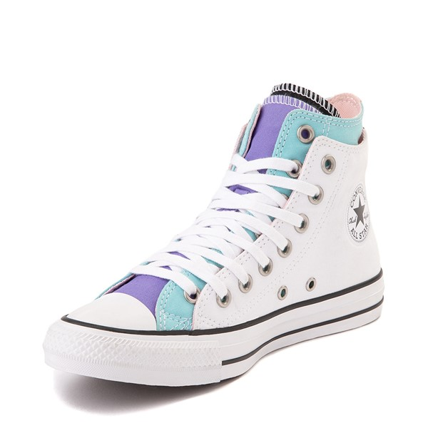alternate view Converse Chuck Taylor All Star Hi Double Upper Sneaker - White / MultiALT2