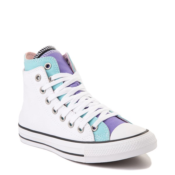 alternate view Converse Chuck Taylor All Star Hi Double Upper Sneaker - White / MultiALT5