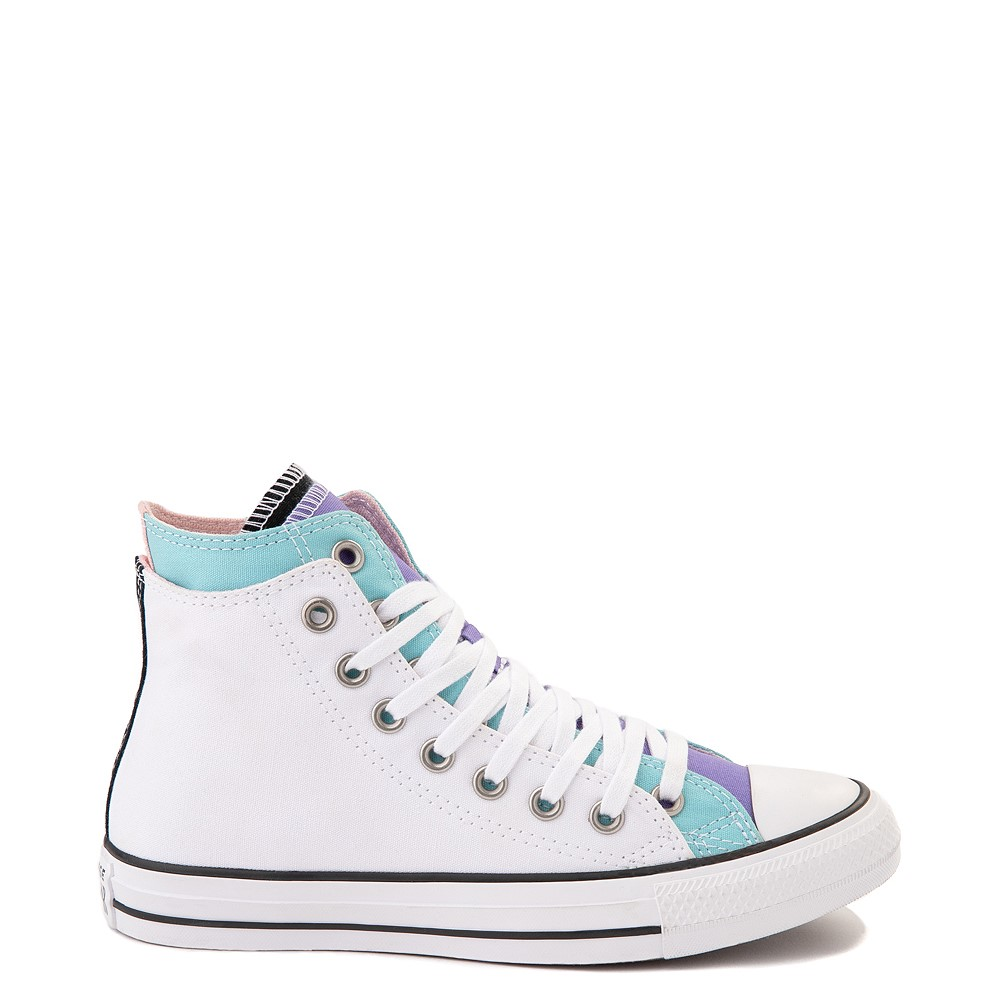 Converse Chuck Taylor All Star Hi Double Upper Sneaker - White / Multi