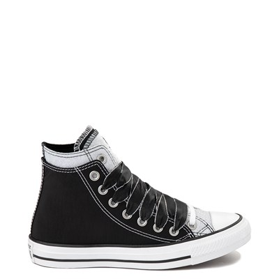 Main view of Converse Chuck Taylor All Star Hi Double Upper Sneaker - Black / Silver