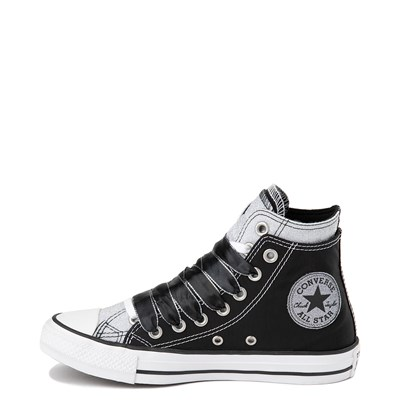Alternate view of Converse Chuck Taylor All Star Hi Double Upper Sneaker - Black / Silver