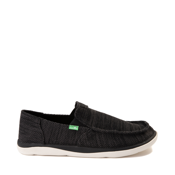 Mens Sanuk Vagabond Tripper Mesh Slip On Casual Shoe - Black