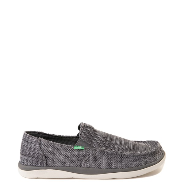 Main view of Mens Sanuk Vagabond Tripper Mesh Slip On Casual Shoe - Charcoal