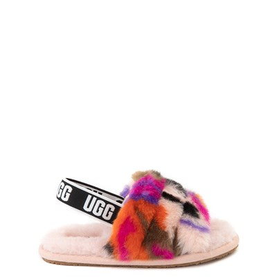 Main view of UGG® Fluff Yeah Motlee Slide Sandal - Toddler / Little Kid