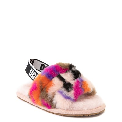 Alternate view of UGG® Fluff Yeah Motlee Slide Sandal - Toddler / Little Kid
