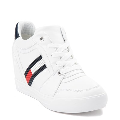 Alternate view of Womens Tommy Hilfiger Delsia Wedge Casual Shoe - White