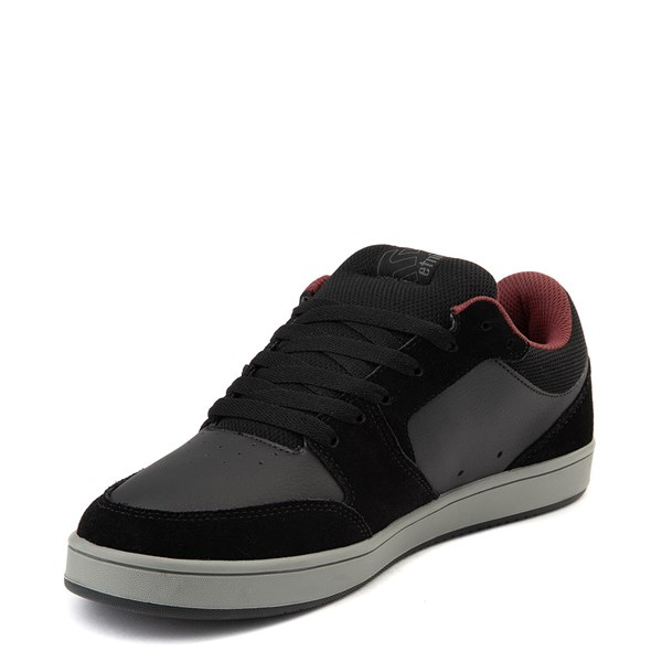alternate view Mens etnies Verano Skate Shoe - Black / Gray / RedALT3