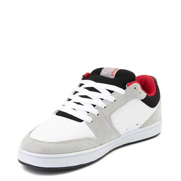 alternate view Mens etnies Verano Skate Shoe - White / Gray / RedALT3
