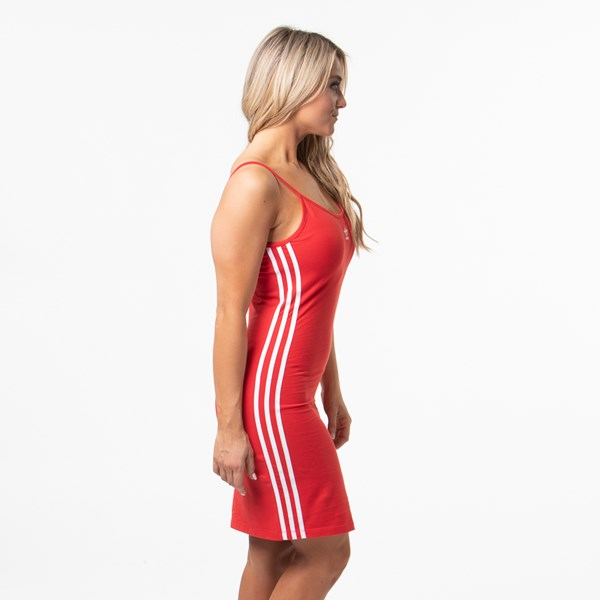 alternate view Womens adidas 3-Stripes Tank Dress - Lush Red / WhiteALT3