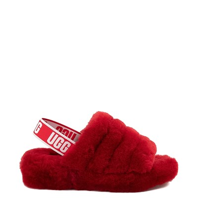 Main view of Womens UGG® Fluff Yeah Slide Sandal - Ribbon Red