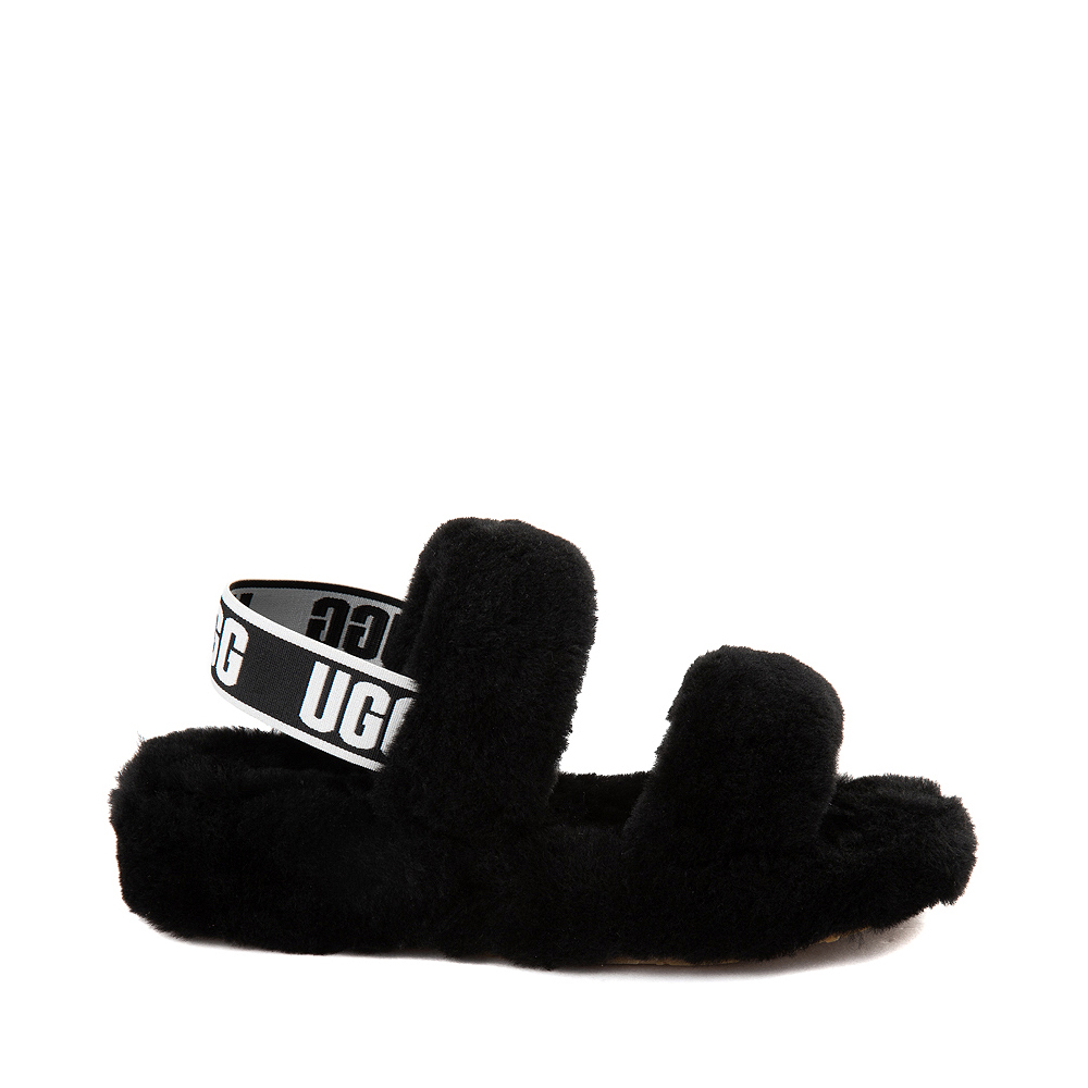 Womens UGG® Oh Yeah Slide Sandal - Black