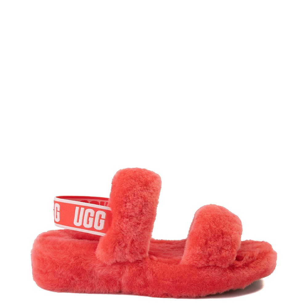 Womens UGG® Oh Yeah Slide Sandal - Coral