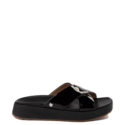 Main view of Womens UGG® Emily Slide Sandal - Black