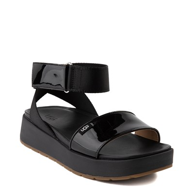 Alternate view of Womens UGG® Lennox Sandal - Black