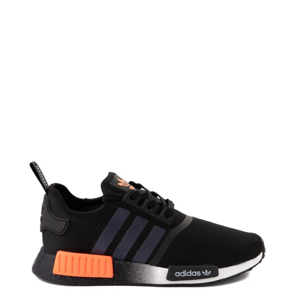Mens adidas NMD R1 Athletic Shoe - Core Black / Solar Orange