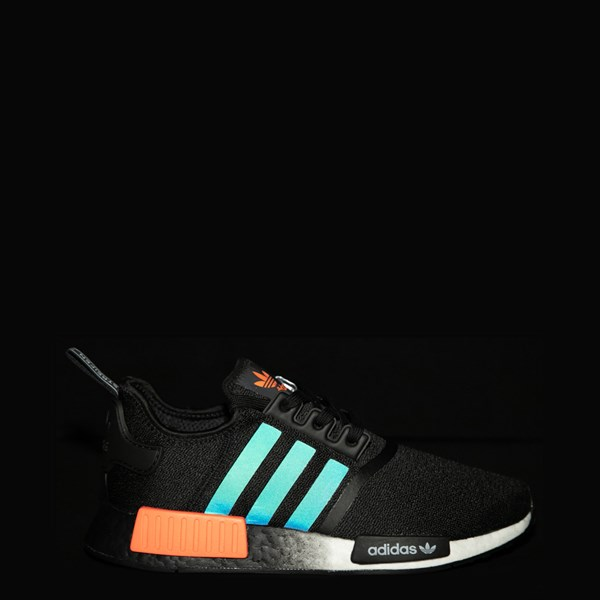 alternate view Mens adidas NMD R1 Athletic Shoe - Core Black / Solar OrangeALT1