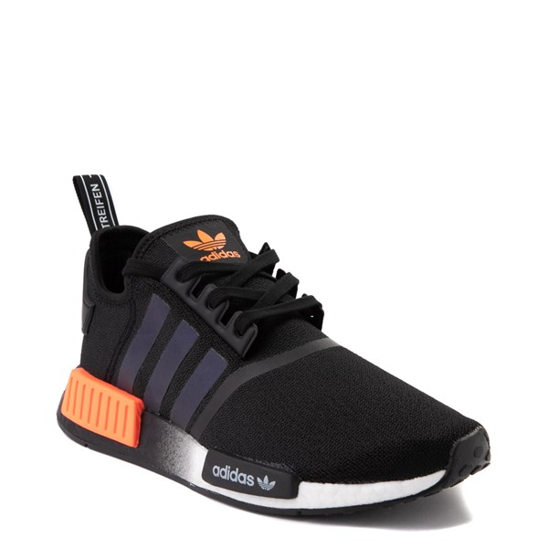 alternate view Mens adidas NMD R1 Athletic Shoe - Core Black / Solar OrangeALT1B