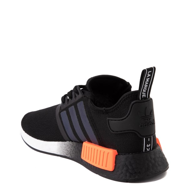 alternate view Mens adidas NMD R1 Athletic Shoe - Core Black / Solar OrangeALT2