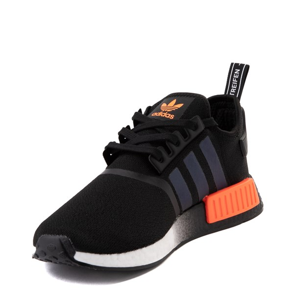alternate view Mens adidas NMD R1 Athletic Shoe - Core Black / Solar OrangeALT3