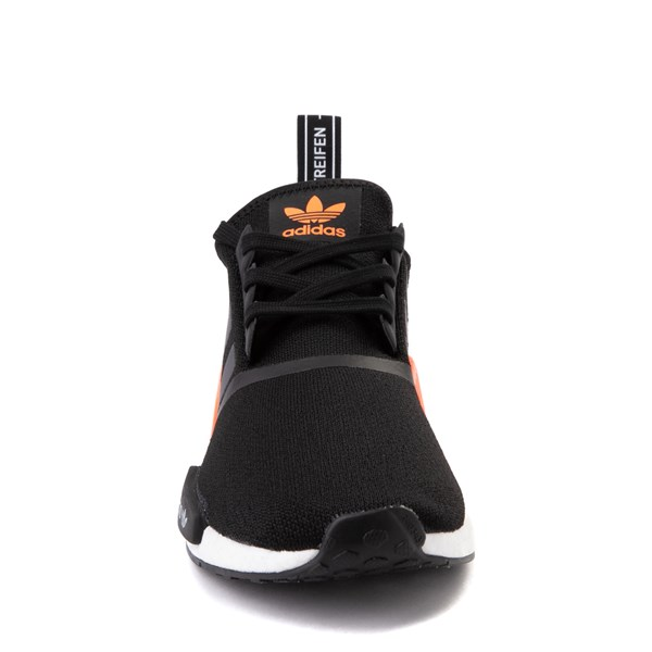 alternate view Mens adidas NMD R1 Athletic Shoe - Core Black / Solar OrangeALT4
