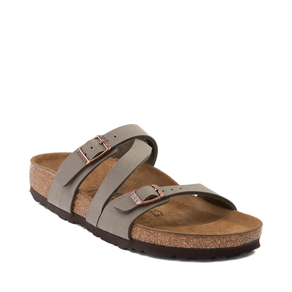 alternate view Womens Birkenstock Salina Slide Sandal - StoneALT5