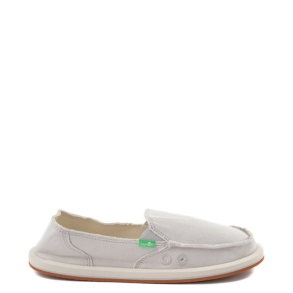 Womens Sanuk Donna Hemp Slip On Casual Shoe - Cream