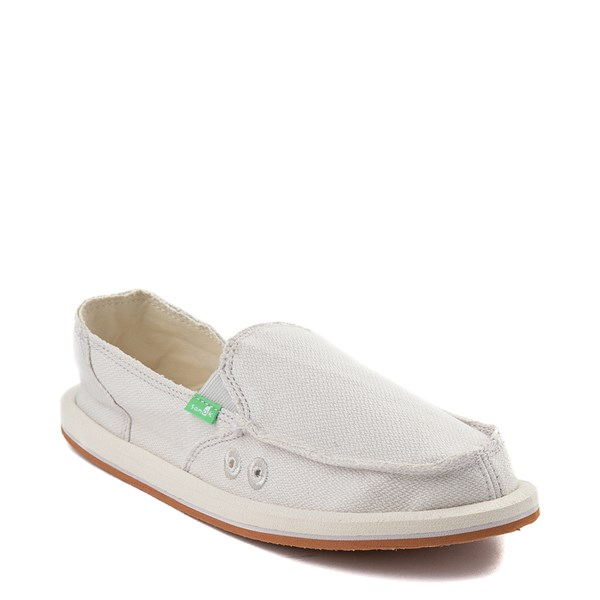 alternate view Womens Sanuk Donna Hemp Slip On Casual Shoe - CreamALT1