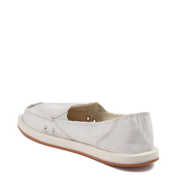 alternate view Womens Sanuk Donna Hemp Slip On Casual Shoe - CreamALT2