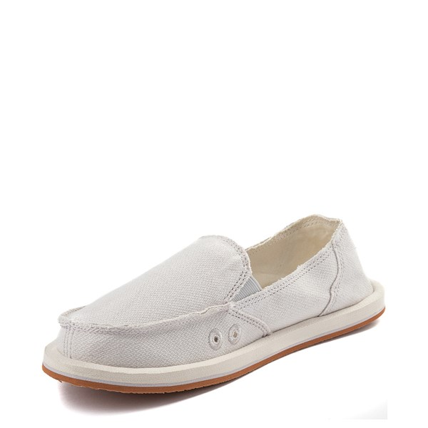 alternate view Womens Sanuk Donna Hemp Slip On Casual Shoe - CreamALT3