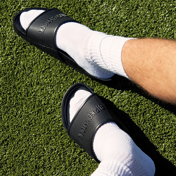 alternate view Mens Birkenstock Barbados EVA Slide Sandal - BlackALT1B