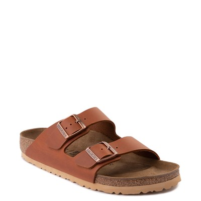 Alternate view of Mens Birkenstock Arizona Sandal - Cognac