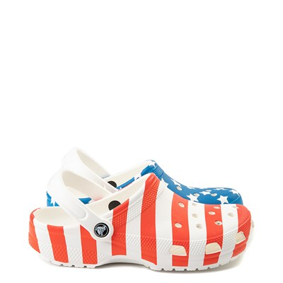 Main view of Crocs Classic American Flag Clog