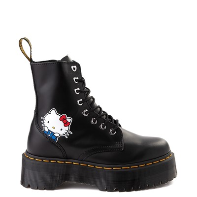 Main view of Womens Dr. Martens x Hello Kitty® Jadon Boot - Black